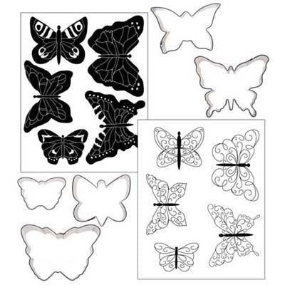 Cookie Cutter Texture Set - Butterflies - Set of 4