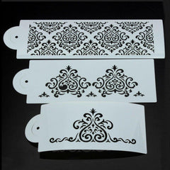 Damask Stencil Set 3 pc.