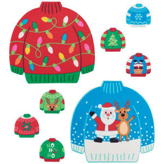 Festive Sweater Printed Edible Decorations