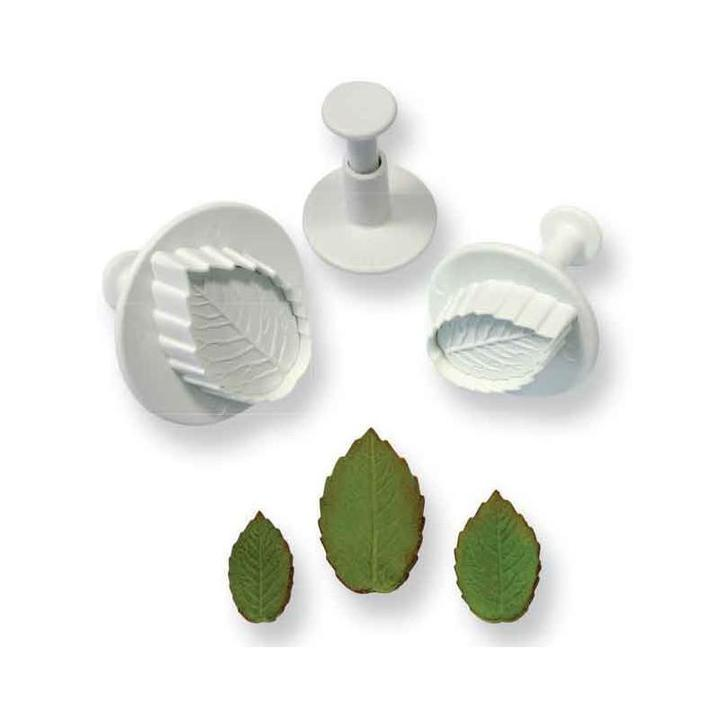 Rose Leaf Plunger Set of 3 - Small