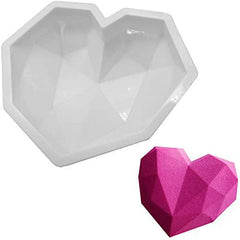 Diamond Heart -Large Silicone Baking - 1 Cavity