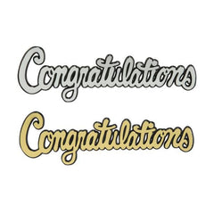 Congratulations Script Silver or Gold - Package of 24