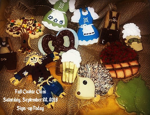 Cookie Class Fall theme Saturday, September 22, 2018