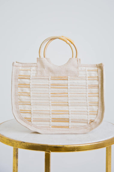 Cotton Jute Handbag - Karlie Clothes
