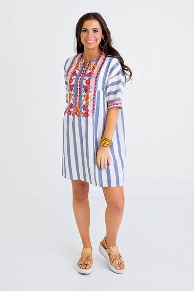 33c629980c0a6 Embroidered Shift Dress