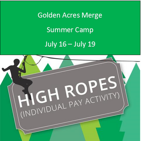 Golden Acres Camp- High Ropes