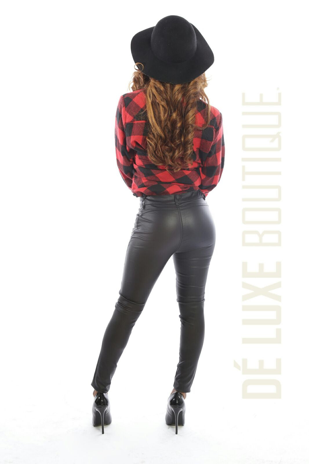 Faux Leather Skinny Pants - The Dé Luxe Boutique