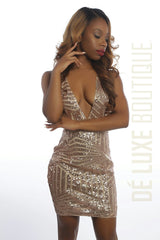 Glitz and Glam Sequin Mini Dress - The Dé Luxe Boutique