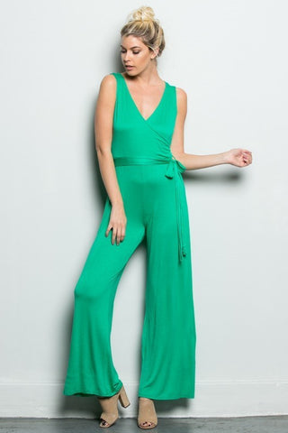 Sleeveless Wrapped Jumpsuit