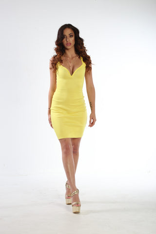 Sleeveless Deep-V Premium Bandage Dress