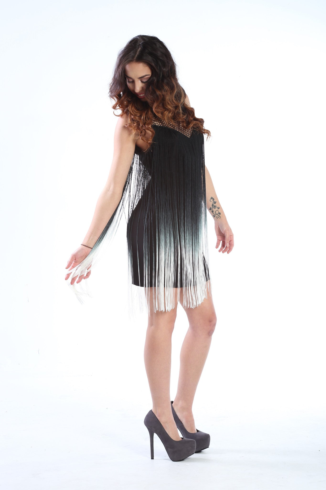Ombre Fringe Mini Dress - The Dé Luxe Boutique