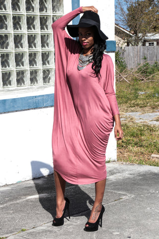 Deep Back Cut Out Maxi Dress
