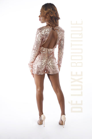 Shine Bright Sequin Romper