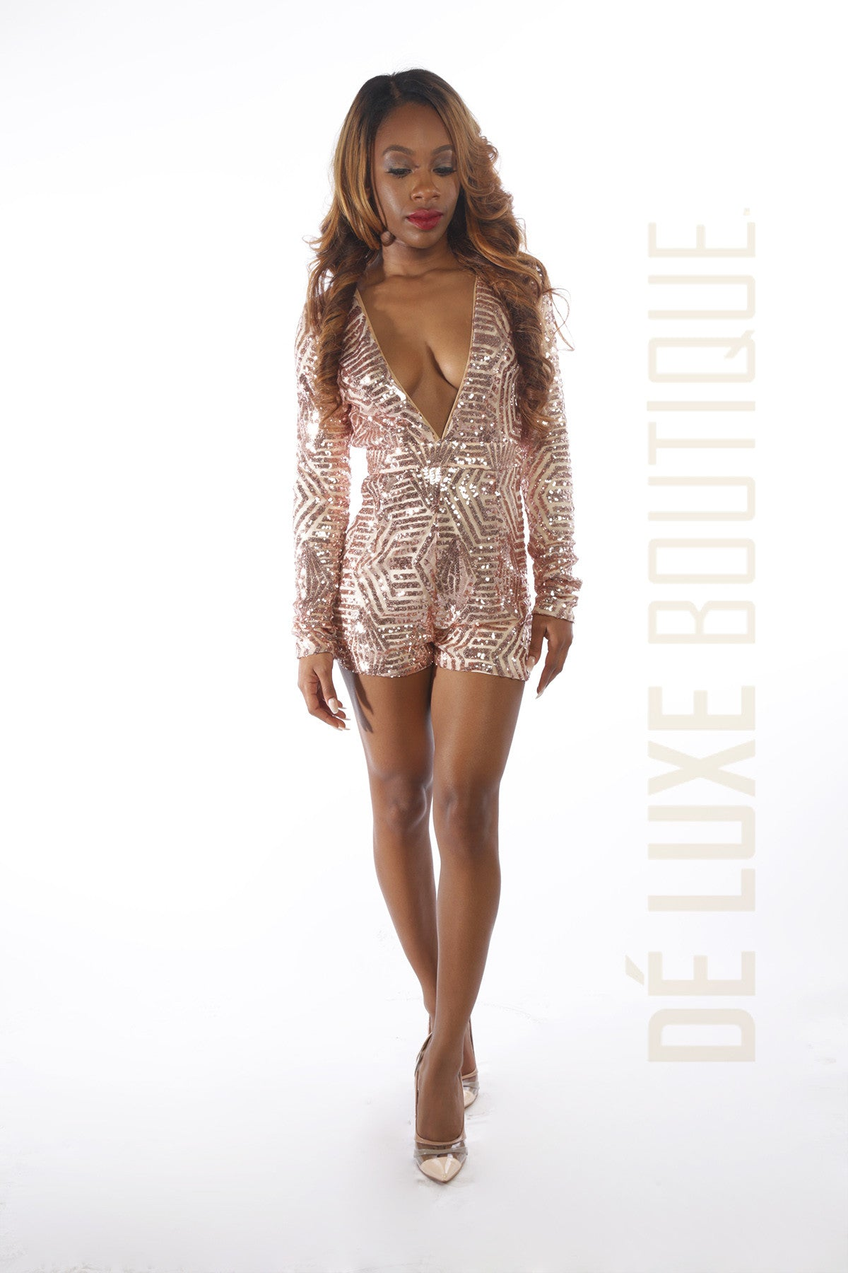 Shine Bright Sequin Romper - The Dé Luxe Boutique