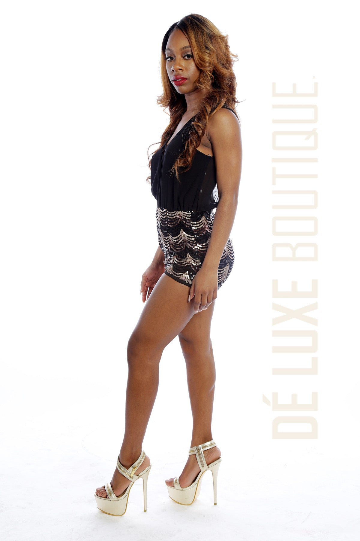 Flashy Sequin Romper - The Dé Luxe Boutique