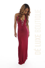 Strappy Back-Out Maxi Dress - The Dé Luxe Boutique