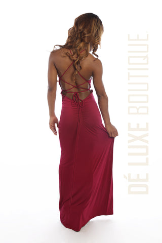 Strappy Back-Out Maxi Dress