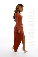 Knot Me Up Suede Dress - The Dé Luxe Boutique