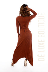 Knot Me Up Suede Maxi Dress