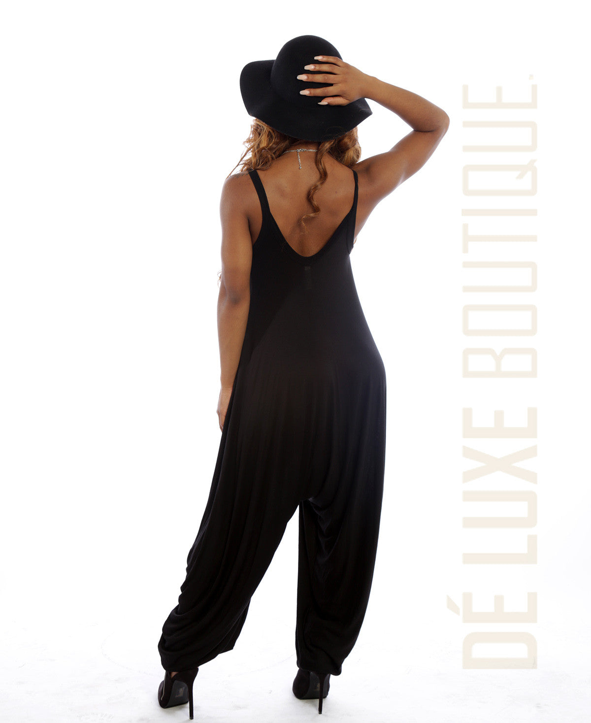 Spaghetti Strap Harem Jumpsuit - The Dé Luxe Boutique