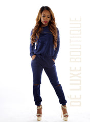 Comfy Knitted Open-Knee Jumpsuit - The Dé Luxe Boutique