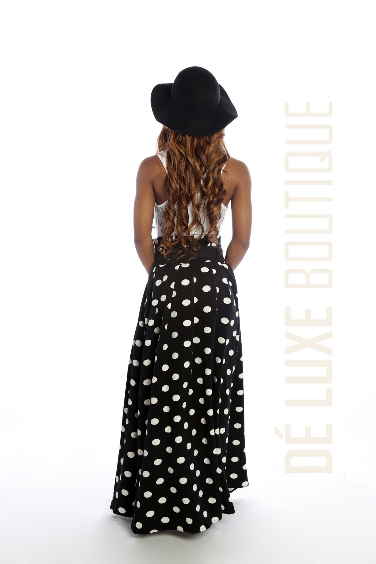 Charming Polka Dot Maxi Skirt - The Dé Luxe Boutique