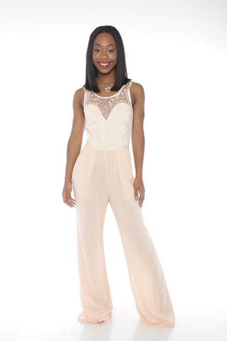 Embellished Bandage Wide Leg Jumpsuit