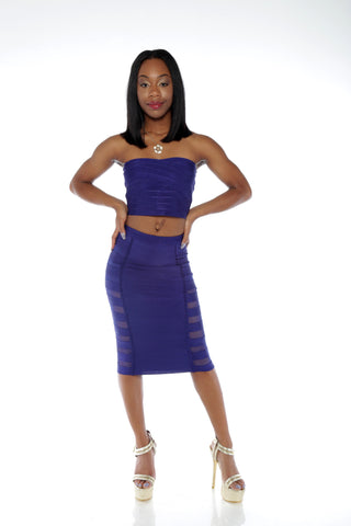 Hold Me Tight Mesh Bandage Skirt Set