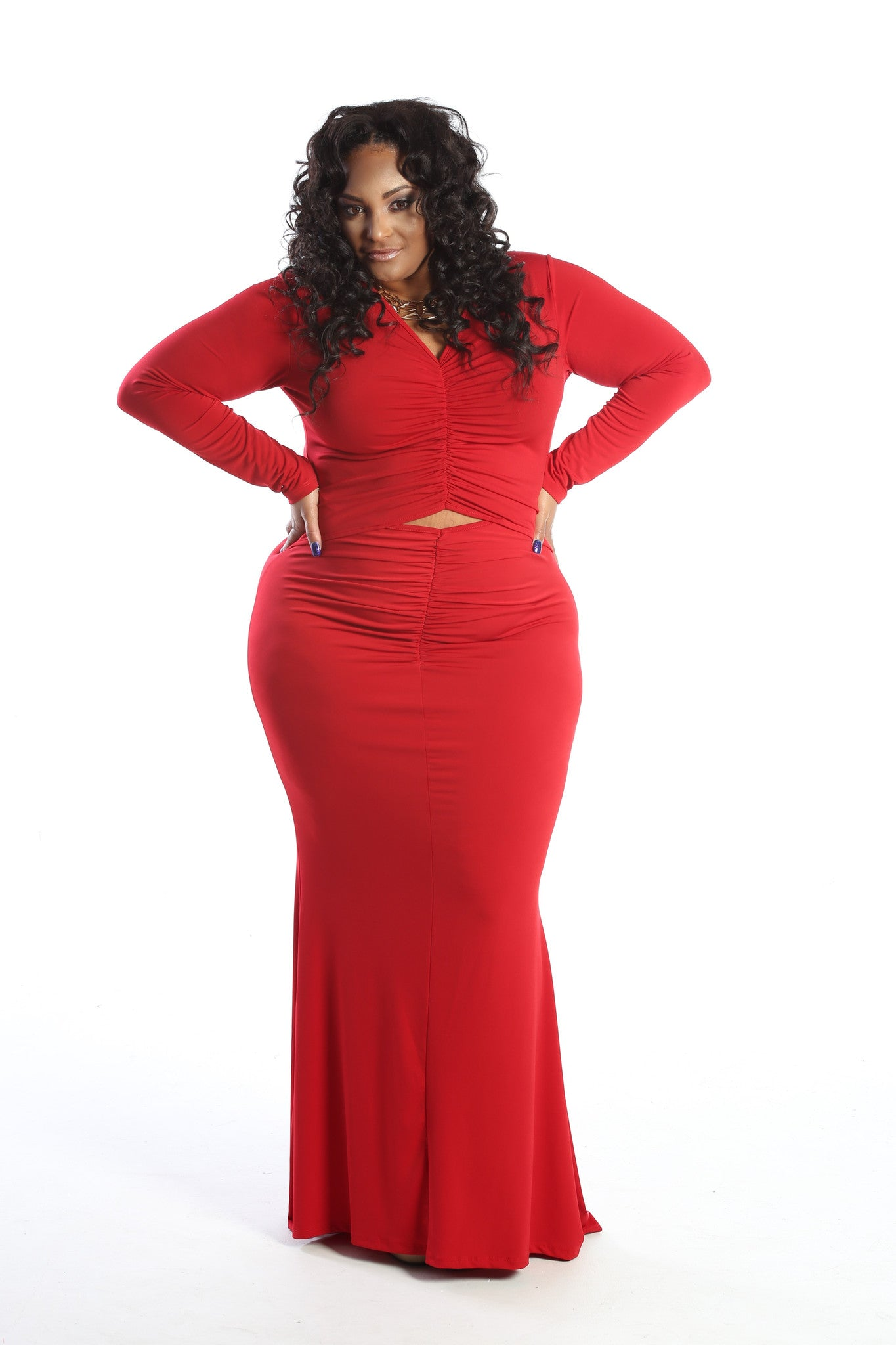 Plus Size Peep Hole Sizzling Maxi Dress - The Dé Luxe Boutique
