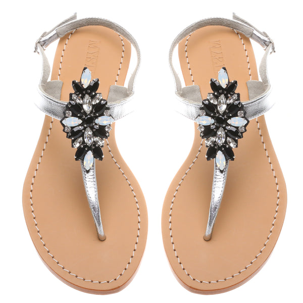 Black & White Combo - Mystique Sandals