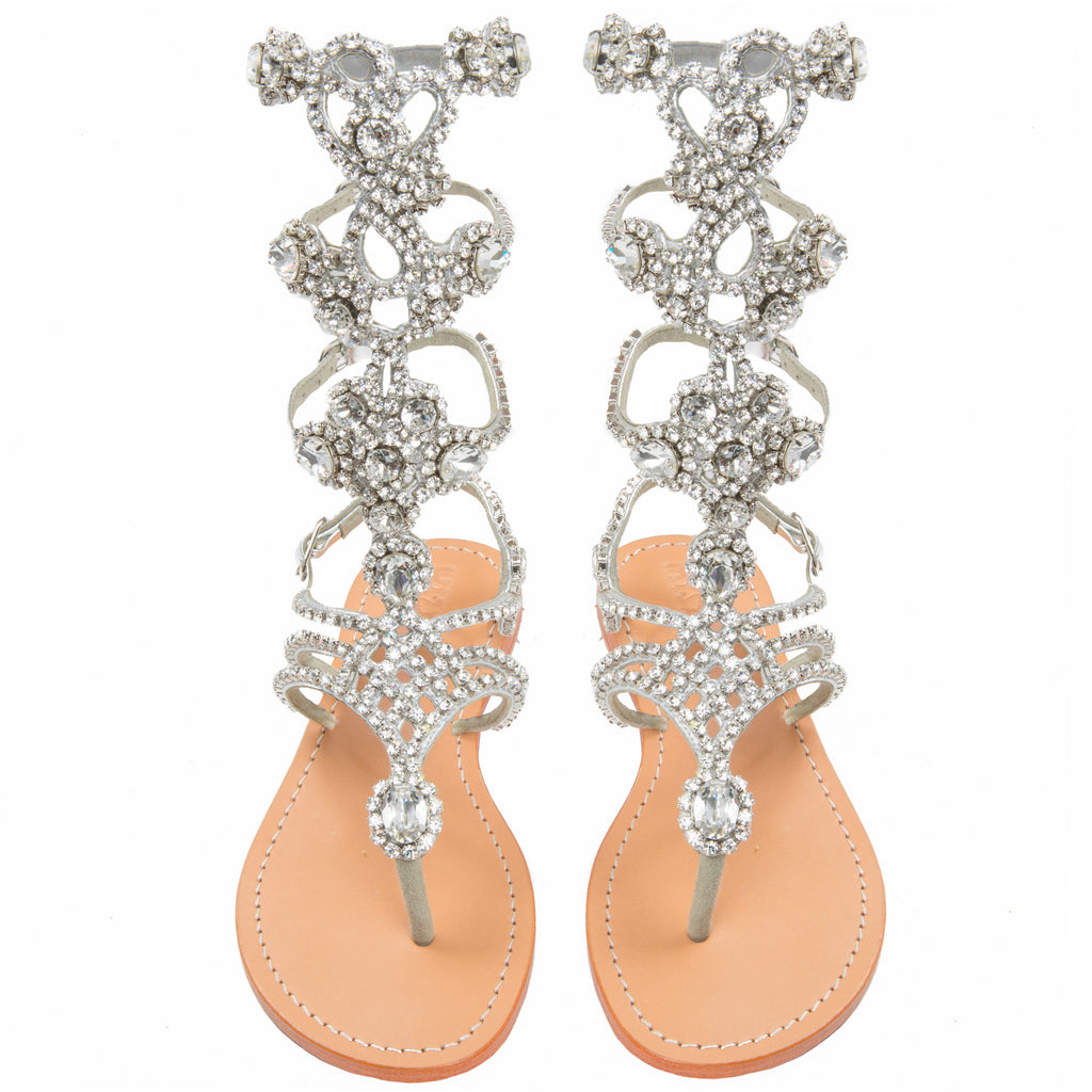 Jeweled And Embellished Designer Gladiator Sandals