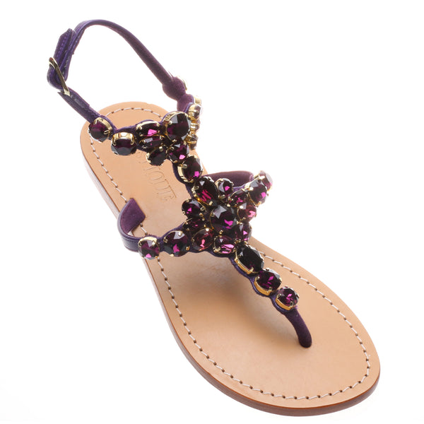 548191f8f9c6 Brampton - Women s Purple Jeweled Leather Sandals