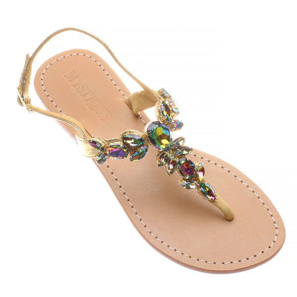 0eb5cc6b66c107 Monterey - Women s Handmade Jeweled Strap Sandals