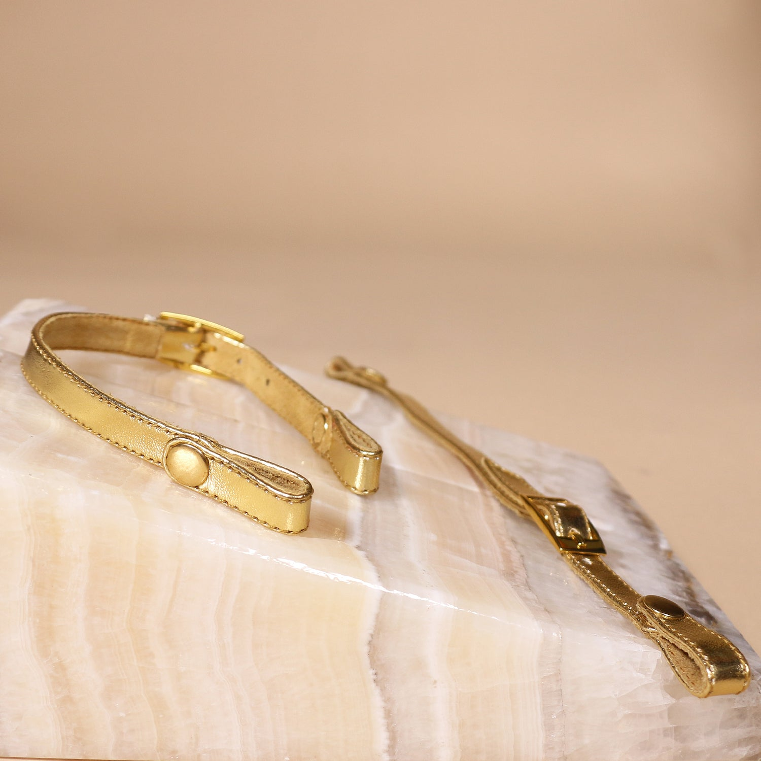 Removable Gold Back Straps - Set of 2