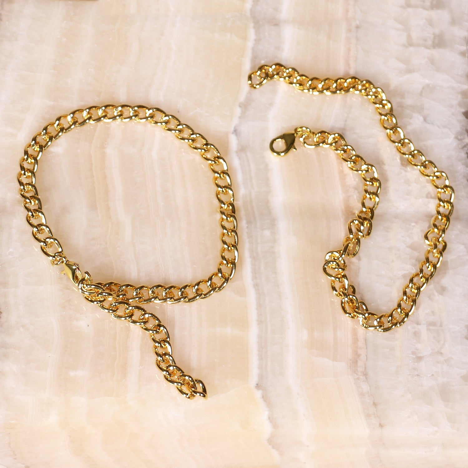 Gold Ankle Chains - Set of 2