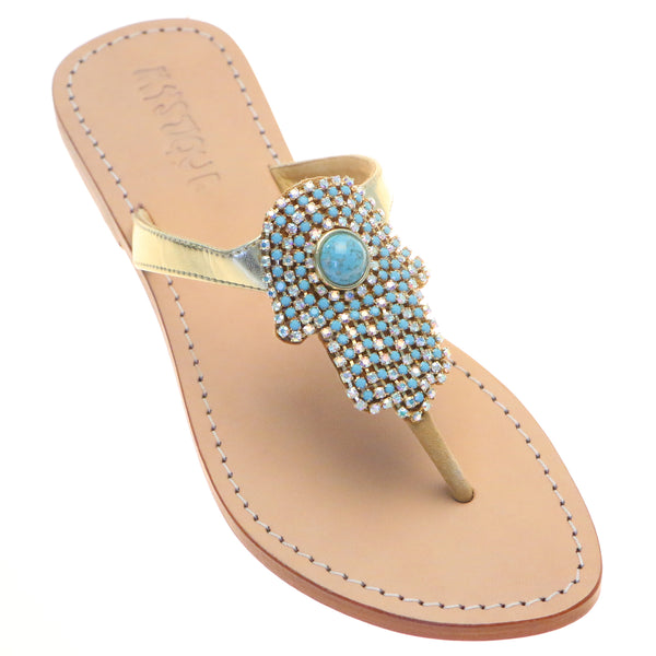 Bridal Shoes Auckland New Zealand: New Zealand - Women's Leather Jeweled Sandals