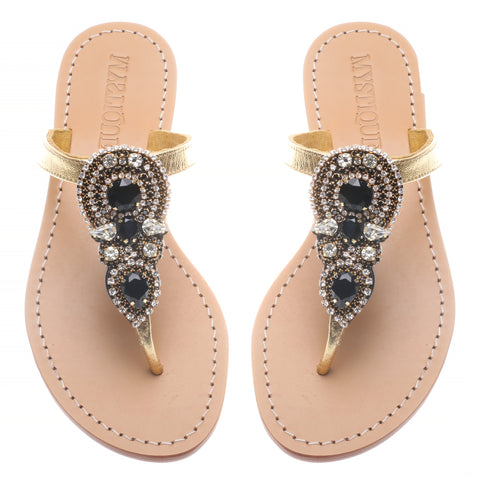 Black Teardrop - Mystique Sandals