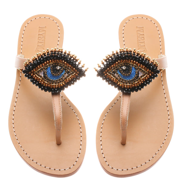 Bronze Evil Eye - Mystique Sandals