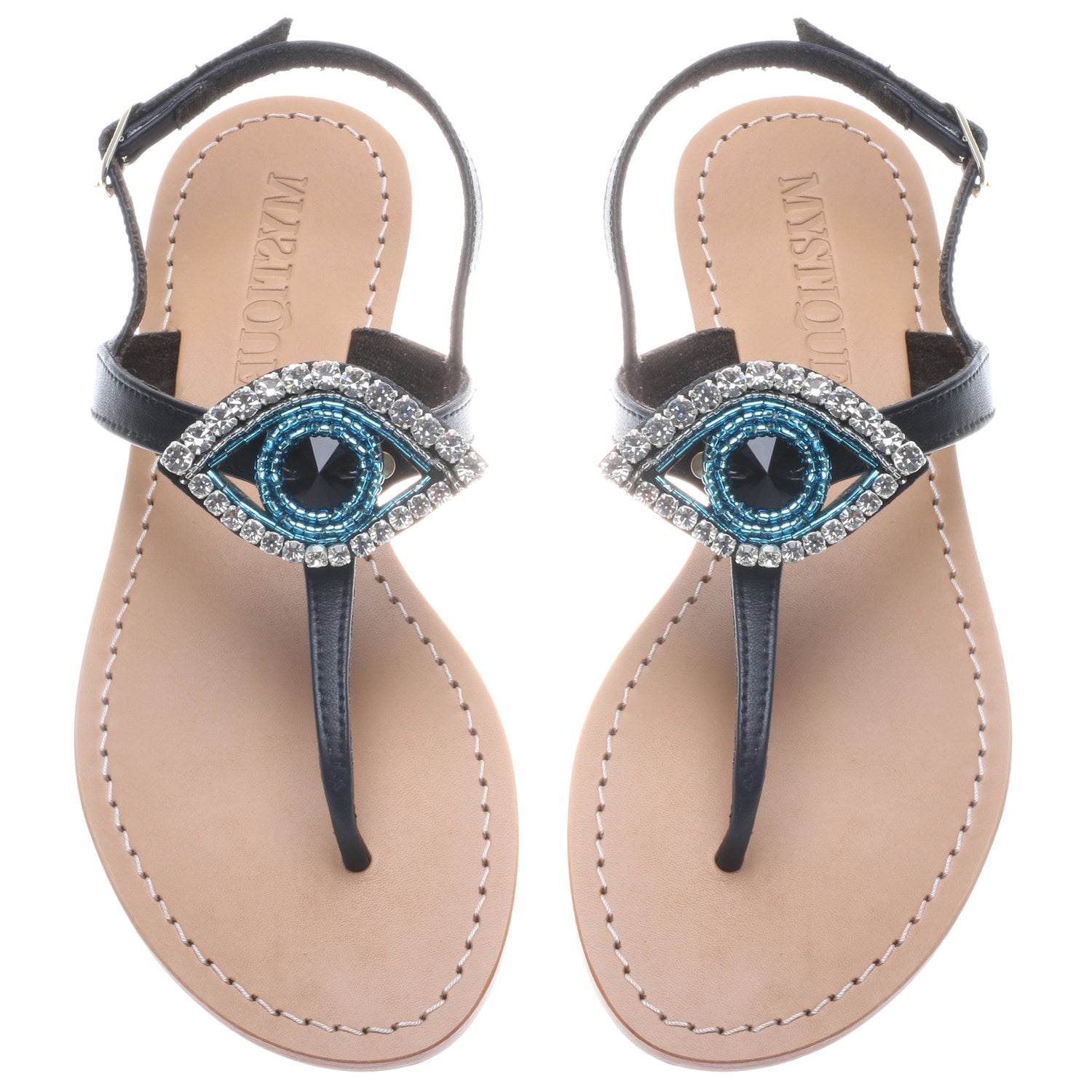 Blue Evil Eye - Mystique Sandals