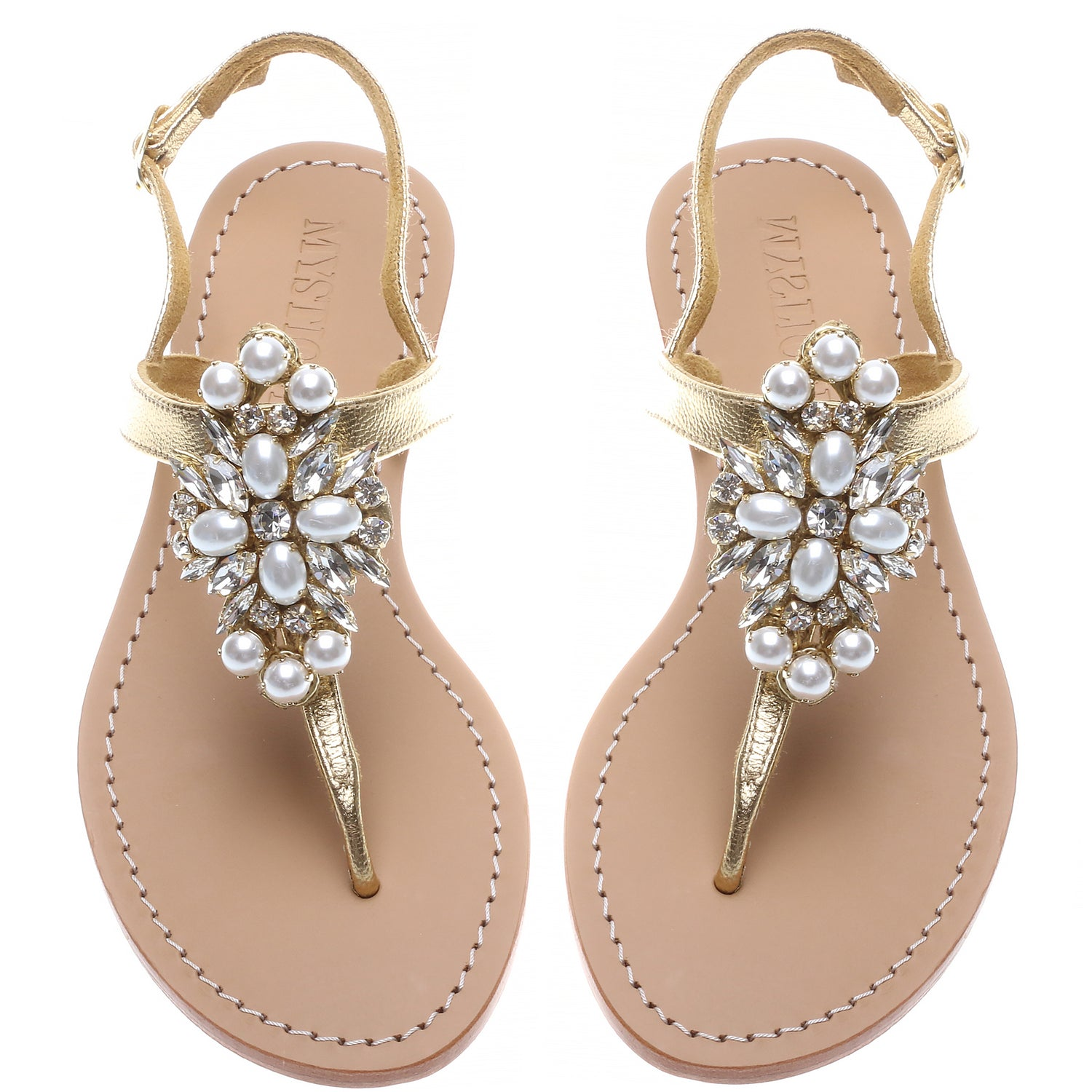 Gold Pearl - Mystique Sandals