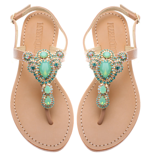 Green Teardrop - Mystique Sandals