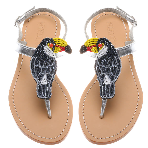 Beaded Parrot - Mystique Sandals