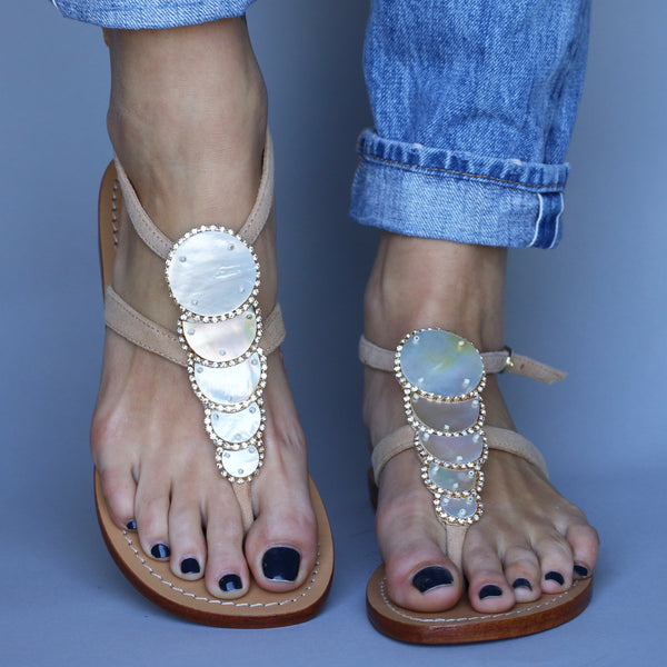 f4f65bc03 Sardinia - Women s Mother of Pearl Leather Sandals