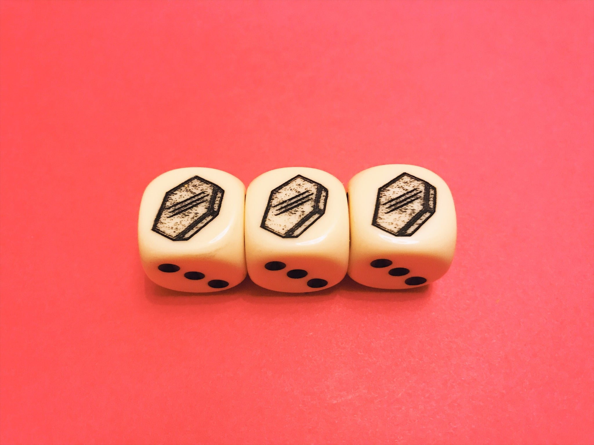 Coffin Dice *White*