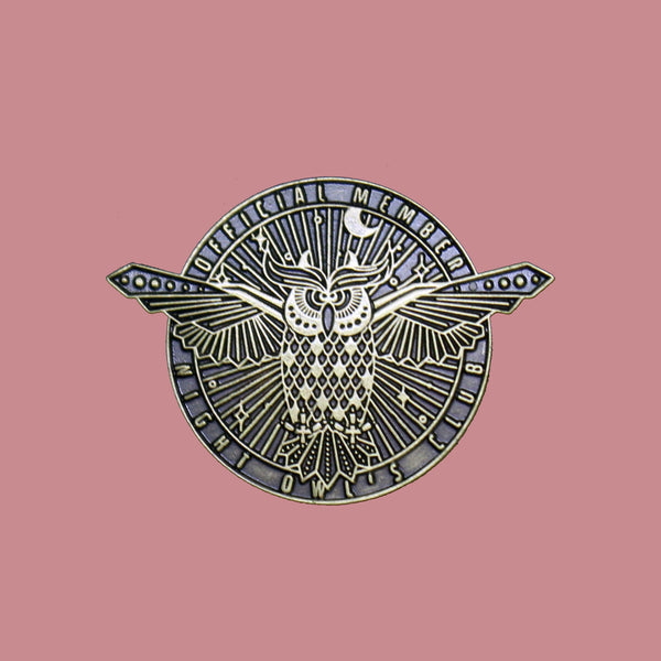 Night Owls Club Pin