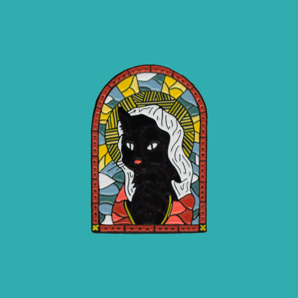 Stained Glass Kitten Pin