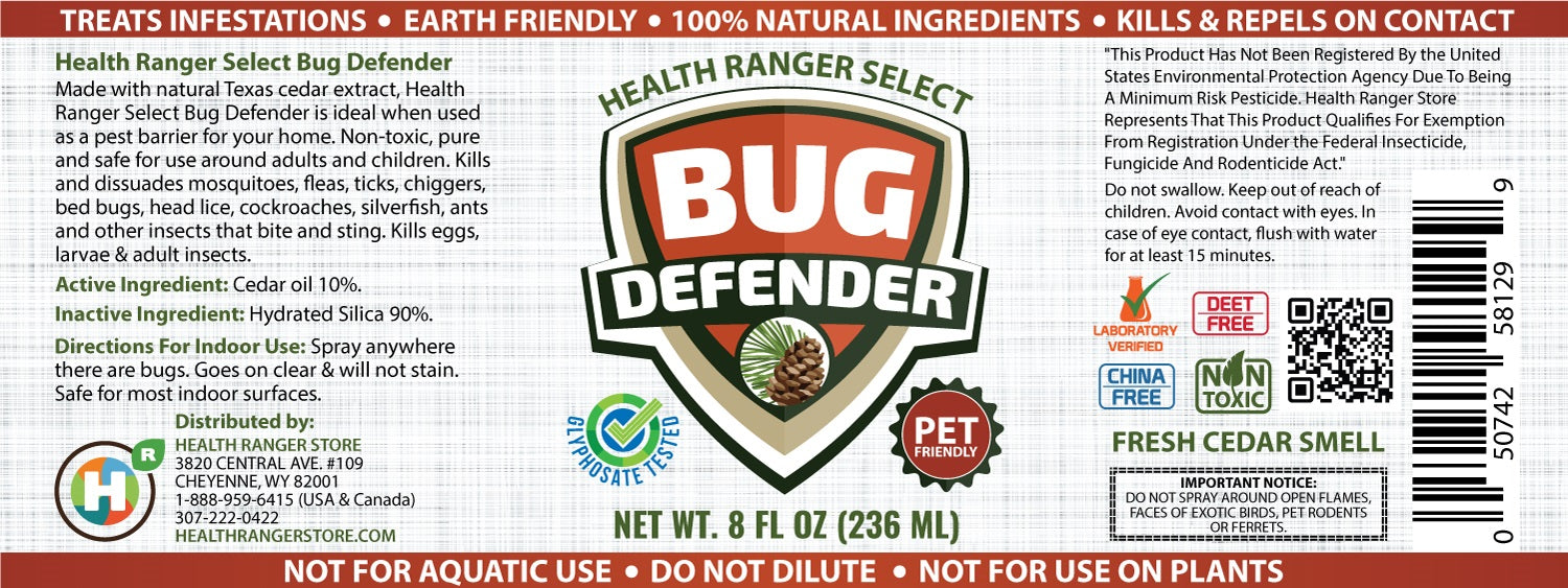 Bug Defender 8oz (236ml) (3-Pack)