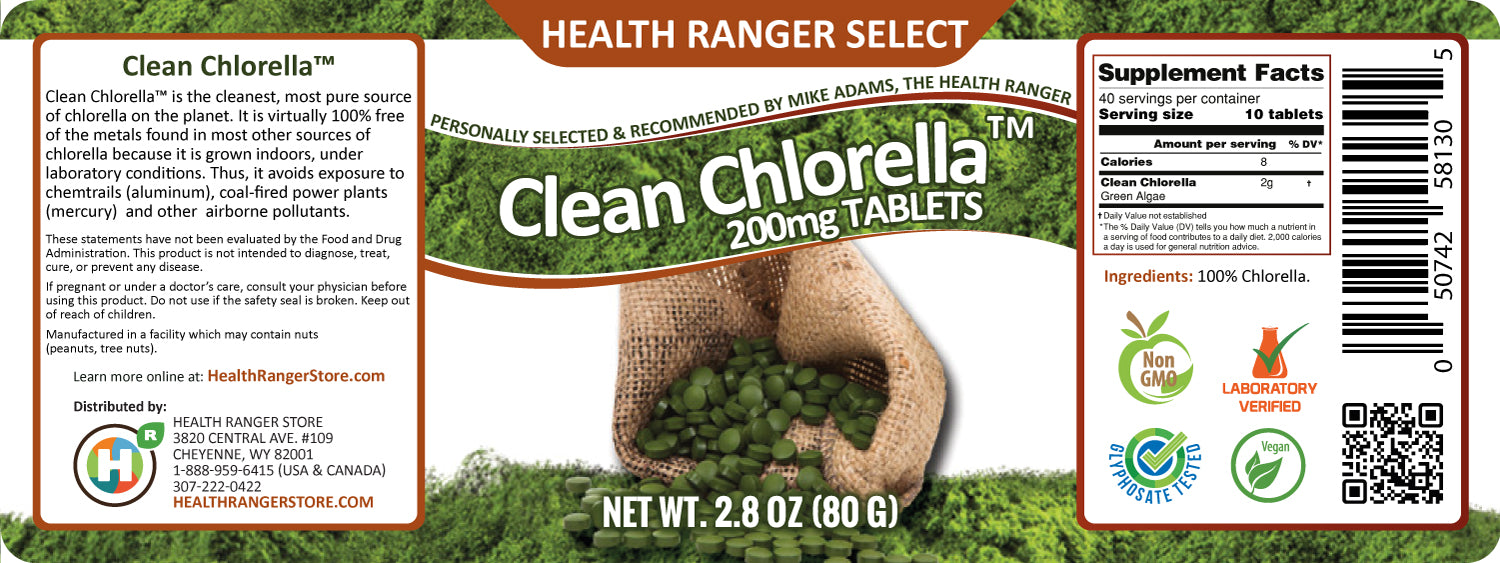 Clean Chlorella 200mg - approximately 400 tablets