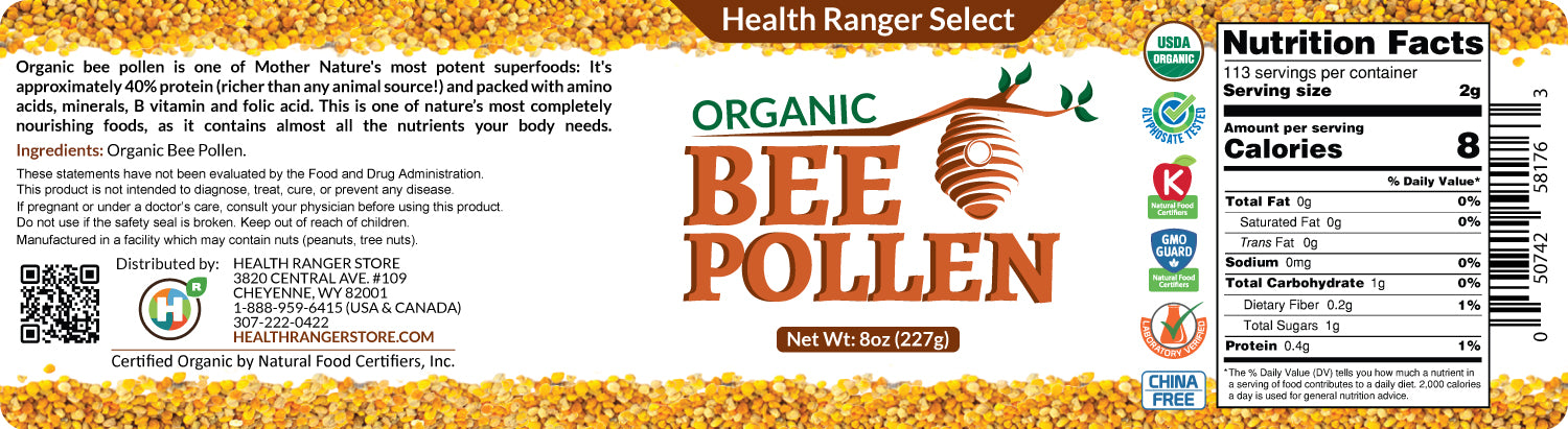 Organic Bee Pollen 8oz (227g) (3-Pack)