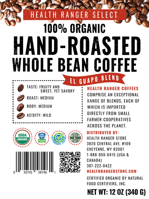 100% Organic Hand-Roasted Whole Bean Coffee Variety A (3-Pack)